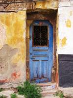 Blue Door in old town Rethymnon, Crete Greece