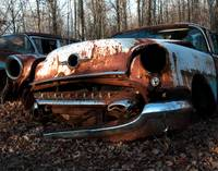 1955 Oldsmobile down and almost out