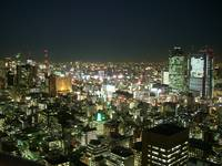 A night view on Ginza from Atago Tower