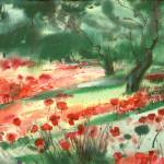 """Red Poppies"" by NadyGepp"