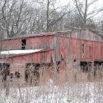"""""""Prices Branch Barn in Winter"""" by kimmerhaw"""