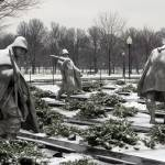 """korean war memorial winter snow washington dc"" by dcphoto"