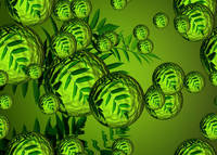 Green Leaves Bubbles