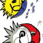 """Duel suns"" by kelbyart"