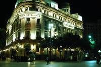 Nighttime Barcelona Bank