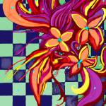 """""""Flower On CheckerBored"""" by ToxicCub"""