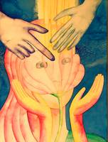 First Simha Painting:  Accepting the Implant