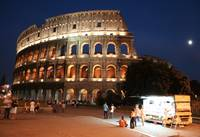 the colosseum and a snack shack