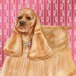 """Show Dogs Cocker Spaniel"" by shariwarren"