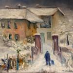 """Snow on the farmhouse"" by zampedroni"