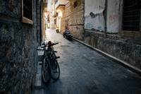 Bikes On Dark Street: Antalya, Turkey