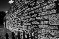 the wall black and white