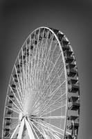 Navy Pier Ferris Wheel (B&W)