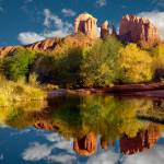 """Sedona Reflection In A Stream"" by pbk"