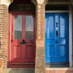 """Bright Doors 77A and 77B, Oxford, England"" by SederquistPhotography"