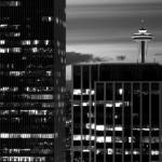 """Seattle Space Needle BW"" by PsychaSec"