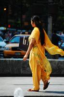 A woman in Sari, New York