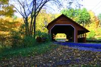 New England Covered Bridge- Red