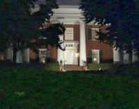 Kappa Alpha Theta Sorority at UGA at Night