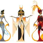 """Divas of Egypt"" by Azodnem"