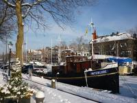 Snow covered harbour