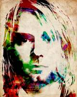 Kurt Cobain Urban Watercolor