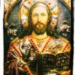 """The icon of Jesus Christ Greek orthodox byzantine"" by arttraveler"