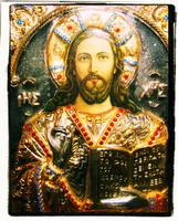 The icon of Jesus Christ Greek orthodox byzantine