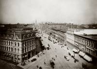 Market and Sansome viewing East to Ferry Bld c1900 by WorldWide Archive