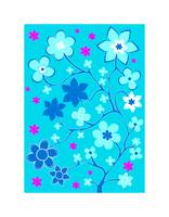 Bling Florals 3 (blue sky, pink flowers)