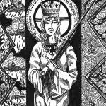 """Saint Dymphna, Patroness of Mentally Ill"" by ShaunRatcliffe"