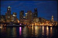 Seattle from the Ferry at Night