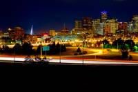 Denver Colorado at Night