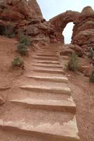 Stairway in Arches National Park, Utah