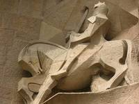 Soldier on Horseback: Passion Facade of La Sagrada