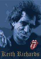 posterizacion de keith richards