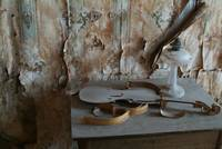 Broken Down Fiddle in Bodie Morgue