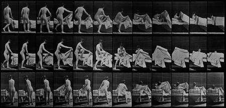 Getting Into Bed by Muybridge