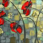 """Red Poppies 1"" by modernhouseart"