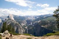 Half Dome view in Yosemite Park