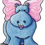 """Faerie Hippo"" by KiniArt"