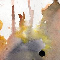 Intuitive Abstract Square 1225SQ_3 Watercolor by G