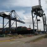 """Unloading at Tilbury Docks"" by chris-roe"