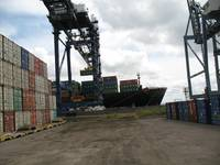 Loading Containers at Tilbury