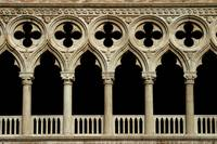 Balcony pilars at the Palazzo Ducale, Venize