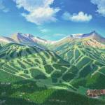 """Breckenridge in Summer"" by jamesniehuesmaps"