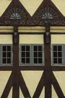 Half-timbered house with carvings. Odense, Denmark