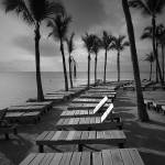 """Sun Bathing Benches on Key Islamorada"" by RandallNyhof"