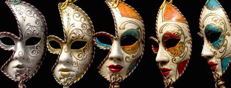 Ladies masquerade masks. Venice.