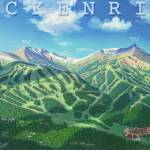 """Breckenridge in Summer with Title"" by jamesniehuesmaps"